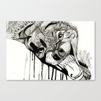 fight Canvas Prints featuring Fight! by Taylor Abate
