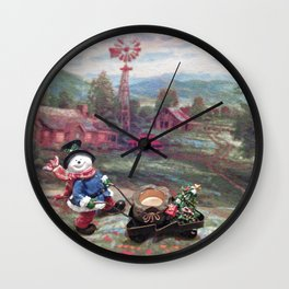 The Christmas Farm Wall Clock