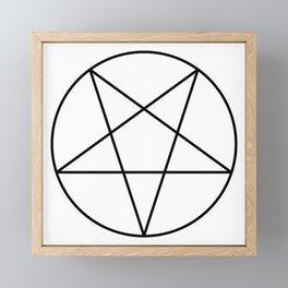 Pentagram Framed Mini Art Print