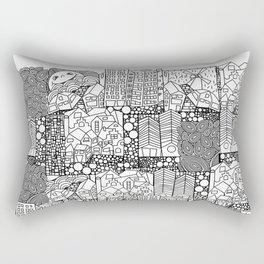 Doodle and the city Rectangular Pillow