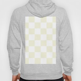 Large Checkered - White and Beige Hoody