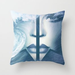 Who's gonna ride your wild horses, who's gonna drown in your blue ... Throw Pillow
