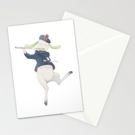 rabbit musician Stationery Cards