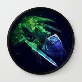Link with sword & shield - Legend Of Zelda Wall Clock