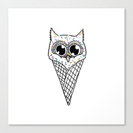 Owl Have a Waffle Cone Canvas Print
