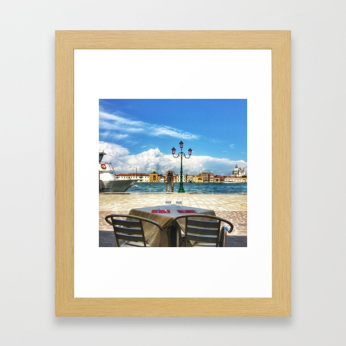 Lunch in Giudecca Framed Art Print