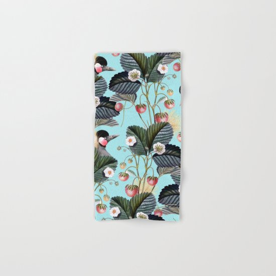 Strawberry Brush Hide-Out #society6 #decor #buyart Hand & Bath Towel