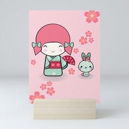 Kokeshi doll - Keiko e Usagi Mini Art Print