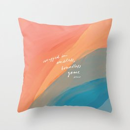 wrapped in endless, boundless grace Throw Pillow
