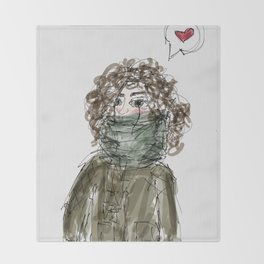 Too cold Throw Blanket
