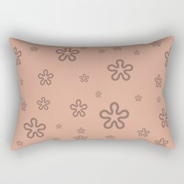 flowers on coral Rectangular Pillow