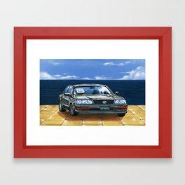 Street Fighter II Bonus Stage Car Framed Art Print