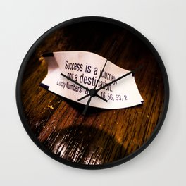 Success is a Journey Wall Clock