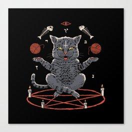 Devious Cat Canvas Print