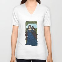pagan V-neck T-shirts featuring pagan poetry by alexa bosy