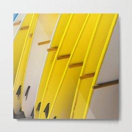 yellow surf Metal Print