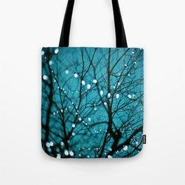 twinkly lights in a tree. Wonder Tote Bag