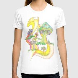 Mushroom Collage T-shirt