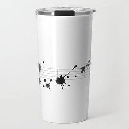 Splatter in D Minor Travel Mug
