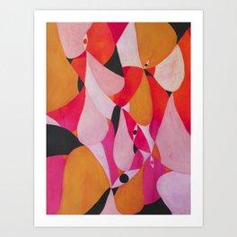 Abstract human landscape Art Print