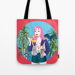 Pizza Girl Tote Bag