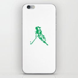 You Play the Way You Practice Field Hockey Player iPhone Skin