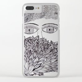 The face behind the bush Clear iPhone Case