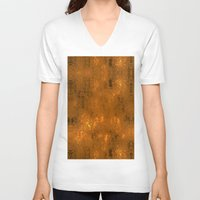 gold foil V-neck T-shirts featuring Gold Foil 10 by Robin Curtiss