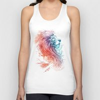lion Tank Tops featuring Sea Lion by Steven Toang