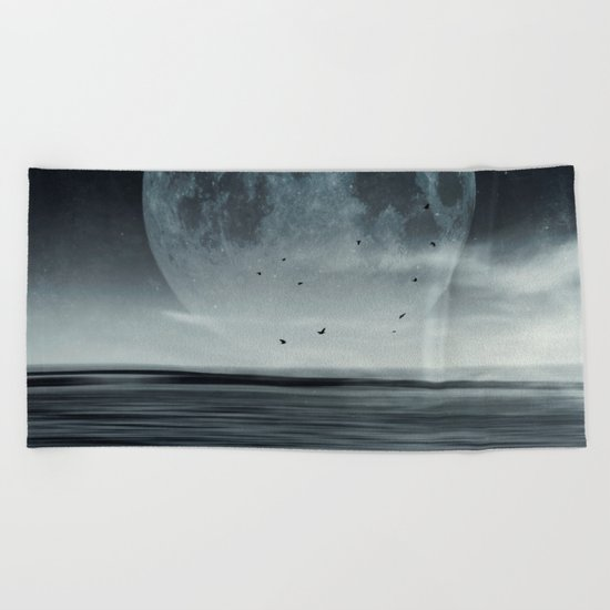 oceans of tranquility Beach Towel