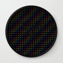 Inline Flower Rainbow Pattern Wall Clock