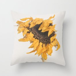 I'll Keep On Standing - Sunflower Throw Pillow
