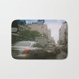Cape Town traffic on a rainy day Bath Mat