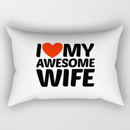 I HEART LOVE MY AWESOME WIFE Rectangular Pillow