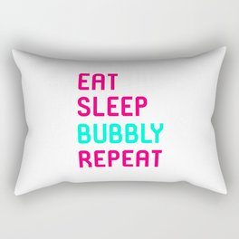 Eat Sleep Bubbly Repeat Funny Training Wrestling Quote Rectangular Pillow