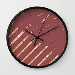 Golden Sweet Marsala Wall Clock