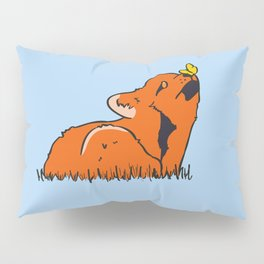 Fox and butterfly Pillow Sham