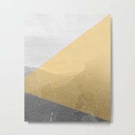 NEON NATURE | Orange Metal Print