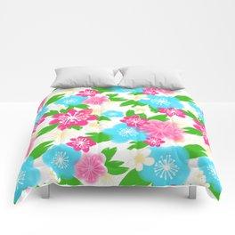 04 Pattern of Watercolor Flowers Comforters