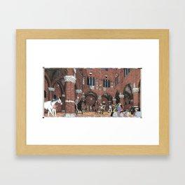 Il PALIO - L'ENTRONE Framed Art Print