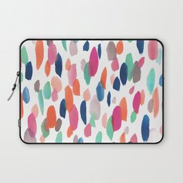 Watercolor Dashes Laptop Sleeve