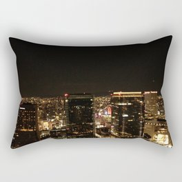 Osaka Black and Gold Rectangular Pillow