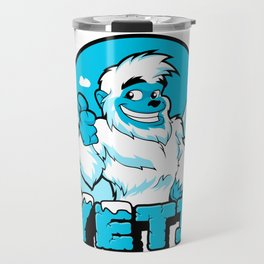 Smiling cartoon yeti Travel Mug