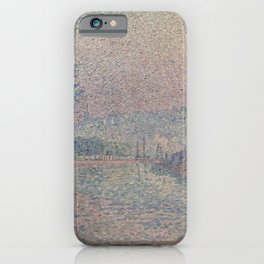 Paul Signac - Samois, la berge, matin iPhone Case
