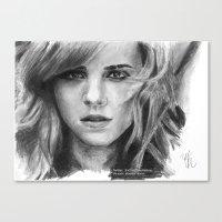 emma watson Canvas Prints featuring Emma Watson by xDontStopMeNow