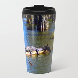Sunning Alligator Travel Mug