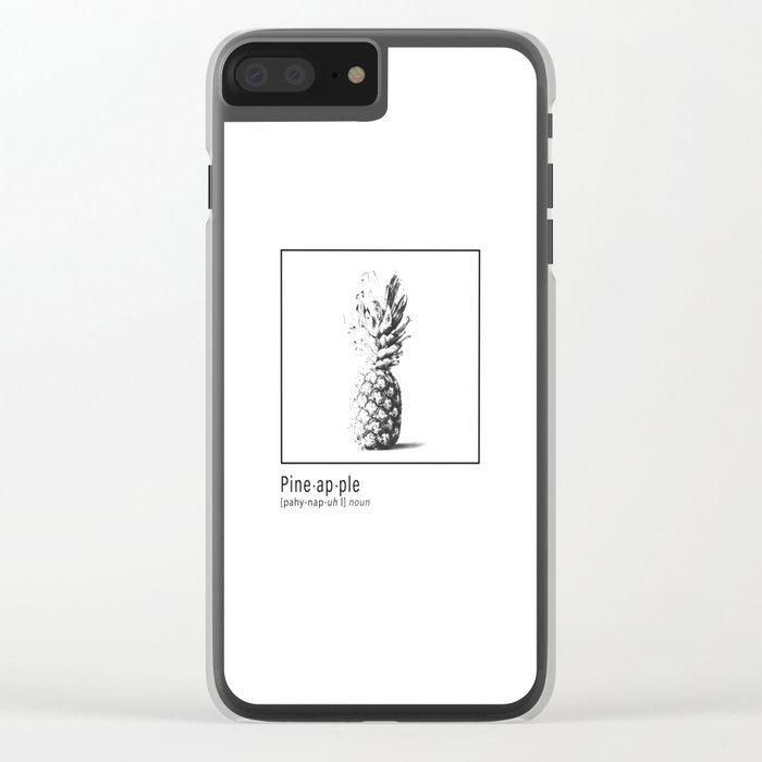 Pineapple Definition Clear iPhone Case