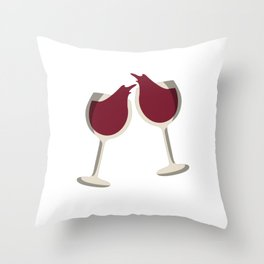 Partners in Wine Throw Pillow