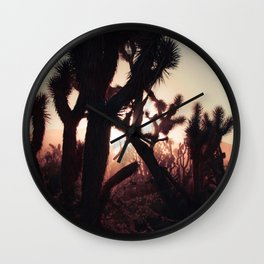 Joshua Trees at Sunset Wall Clock