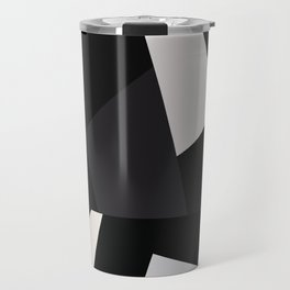 Mid Century Modern Geometry 1 black grey beige Travel Mug